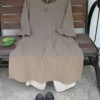 草木染コットンのチュニック・ドレス